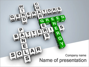Green Energy Korsords PowerPoint presentationsmallar