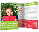 Happy Woman on Grass Brochure Templates