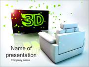3D Films Watching PowerPoint Templates