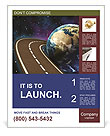 Space Travels Concept Poster Templates