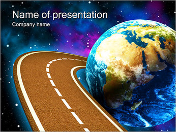 Space Travels Concept Sjablonen PowerPoint presentatie
