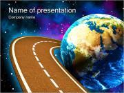スペース旅行コンセプト PowerPointプレゼンテーションのテンプレート