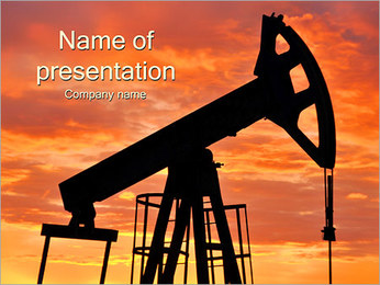 Oil Industry Concept PowerPoint šablony