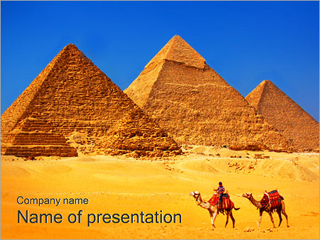 Egypt Pyramids Powerpoint Template & Backgrounds Id 0000002285