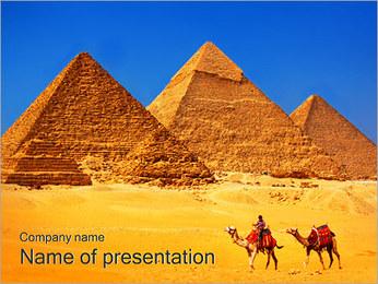Egitto Piramidi I pattern delle presentazioni del PowerPoint