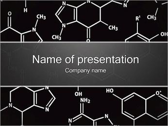 化学コンセプト PowerPointプレゼンテーションのテンプレート
