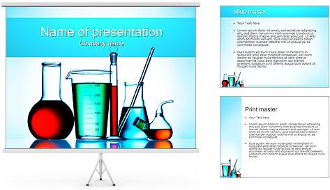 Flacons chimiques Modèles des présentations  PowerPoint