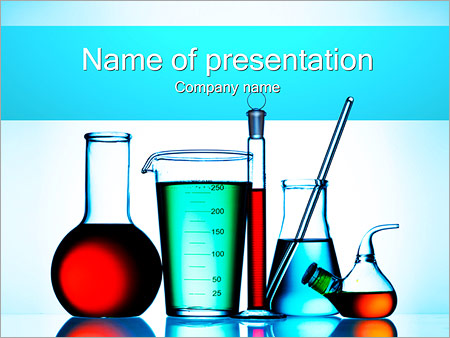 Chemical Flasks Powerpoint Template & Backgrounds Id 0000002293