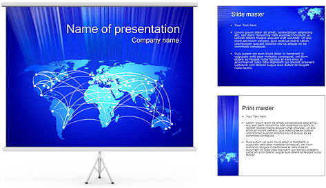 World Communication Concept PowerPoint Template