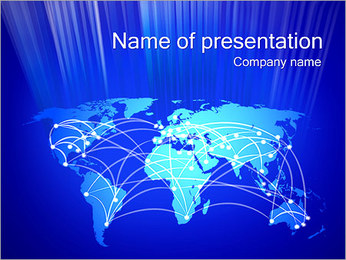 World Communication Concept PowerPoint presentationsmallar