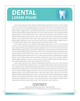 Dental Concept Letterhead Template