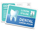 Dental Concept Postcard Template