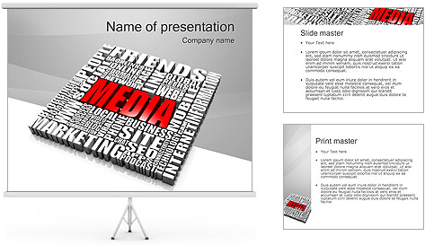 Media Tagcloud PowerPoint Template