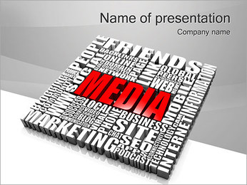 Media Tagcloud PowerPoint presentationsmallar