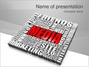 Media Tagcloud Sjablonen PowerPoint presentaties