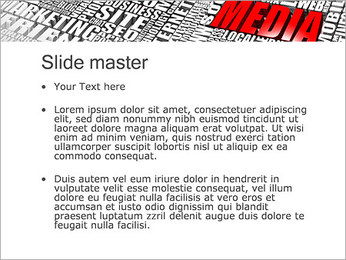 Media Tagcloud PowerPoint Templates - Slide 2