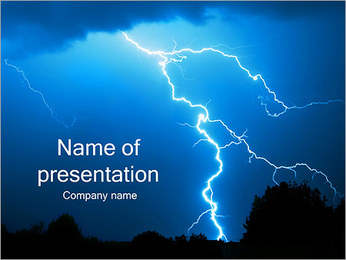 Lightning PowerPoint Template