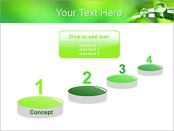 Gouttes d'eau sur l'herbe Modèles des présentations  PowerPoint - Diapositives 7