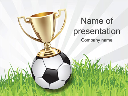 Football Cup Powerpoint Template & Backgrounds Id 0000002307