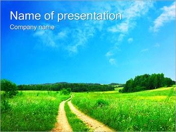 Way in Field PowerPoint Template