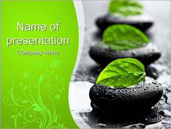 Spa Stones PowerPoint Template