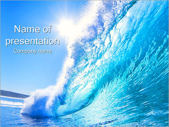 Sea Wave PowerPoint-Vorlagen