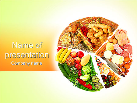 Food drink powerpoint templates backgrounds google slides food pie chart powerpoint templates toneelgroepblik Gallery
