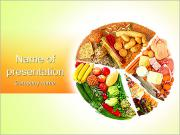 Food Pie Chart PowerPoint Templates