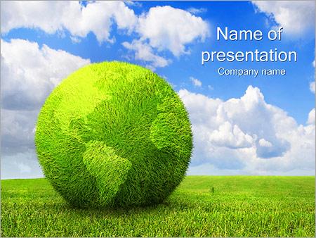 Green Concept Земля Шаблоны презентаций PowerPoint