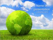 Green Earth Concept Sjablonen PowerPoint presentaties