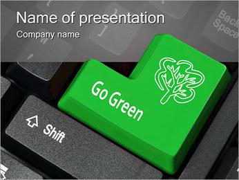 Green Key PowerPoint Template
