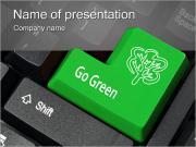 Зеленый ключ Шаблоны презентаций PowerPoint