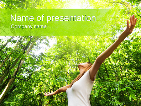 Girl And Nature Powerpoint Template  Backgrounds Id
