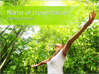Girl and Nature PowerPoint Template