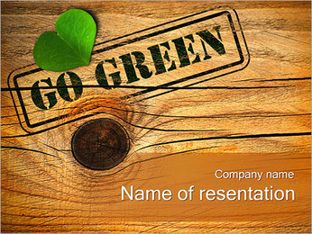Go Green Concept PowerPoint Template
