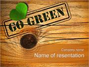Перейти зеленый концепции Шаблоны презентаций PowerPoint