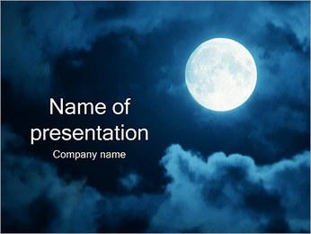 Lune Modèles des présentations  PowerPoint
