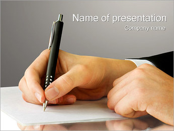 Signing Finance Contract PowerPoint Template