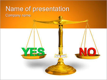 Yes or No PowerPoint Template