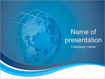 Planet Earth Model PowerPoint Template - Slide 1