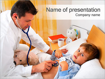 Doctor Listening Child PowerPoint Template