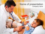 Doctor Listening Child PowerPoint Templates