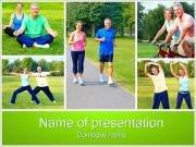 Zdravý životní styl PowerPoint šablony
