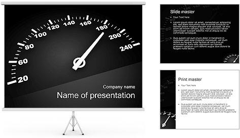 Compteur de vitesse Modèles des présentations  PowerPoint