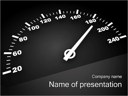speedometer powerpoint template & backgrounds id 0000002341, Powerpoint templates