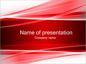 Abstract Red Waves PowerPoint Template