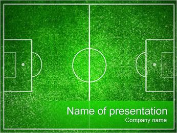 Fotbalové hřiště PowerPoint šablony