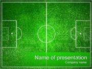 フットボールの競技場 PowerPointプレゼンテーションのテンプレート