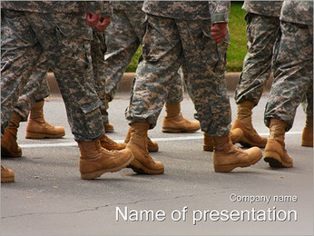 Soldiers March PowerPoint Template