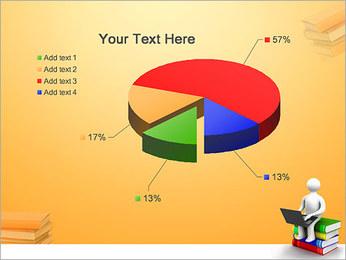 Homem com portátil em livros Modelos de apresentações PowerPoint - Slide 19